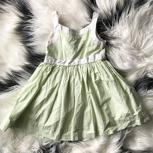 Janie and Jack Toddler Green Checkered Dress